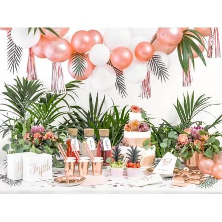 Boîtes à gâteaux décoratifs - Merci or rose 14x8.5x14cm