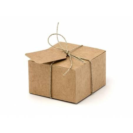 Boîtes avec étiquettes 6x5.5x3.5cm