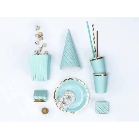 Boîtes à rayures bleu clair 6x3.5x5.5cm