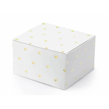 Boîtes Coeurs blanc 6x35x55cm