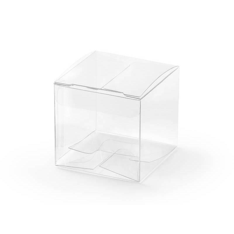 Boîtes carrées transparentes 5x5x5cm