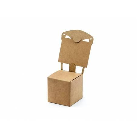 Chaise de boîtes kraft 5x5x5cm