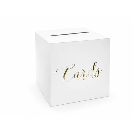 Boîte à cartes de mariage - Cartes or 24x24x24cm