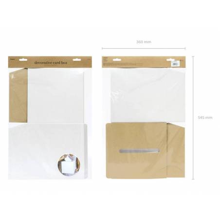 Boîte à cartes de mariage crème 24x24x24cm