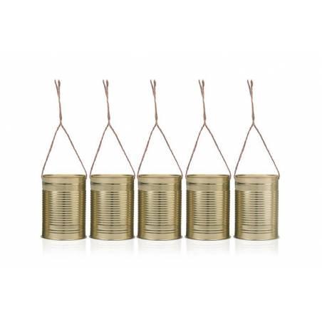Boîtes décoratives dorées 10 x 7 cm