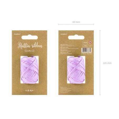 Ruban en raphia 5mm / 10m lilas