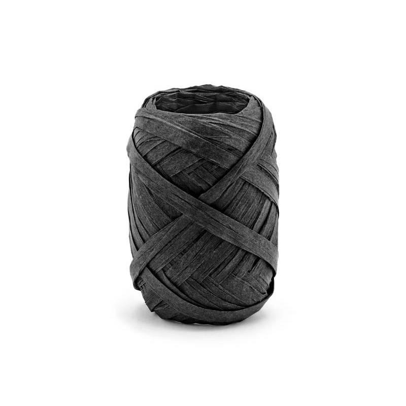 Ruban Raphia 5mm / 10m noir