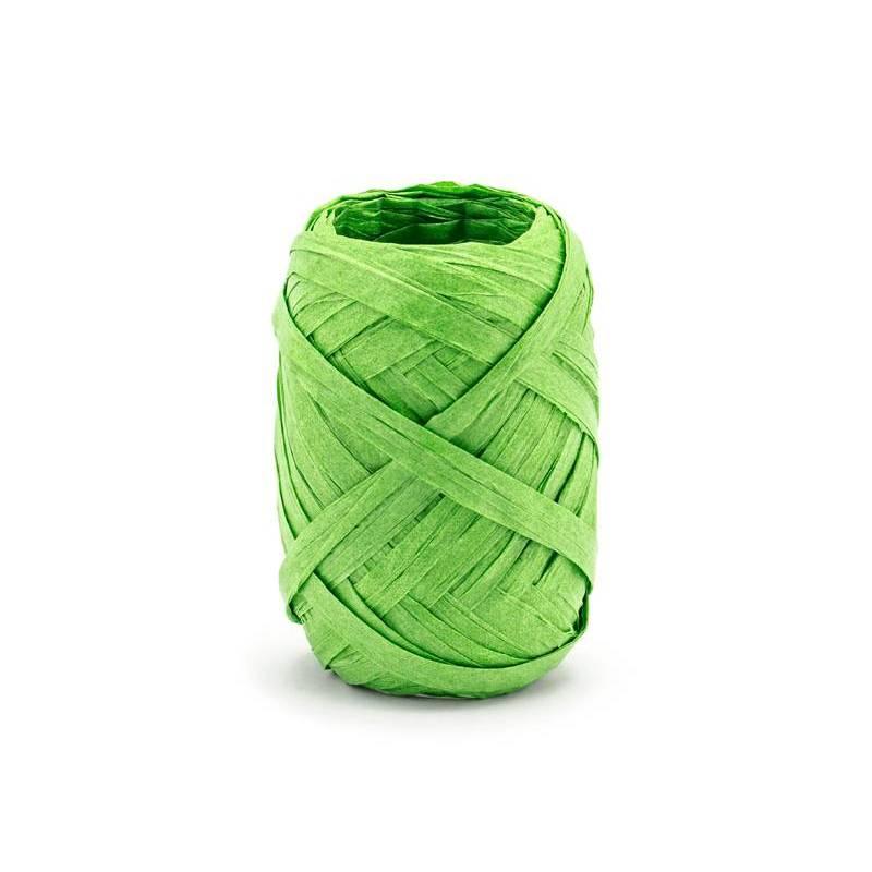 Ruban en raphia 5mm / 10m vert