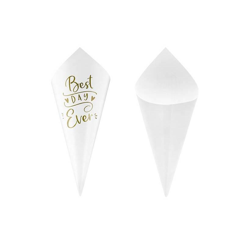 Cônes de confettis or 16cm