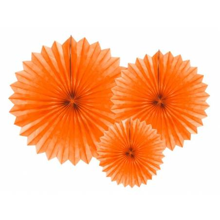Eventail en tissu orange 20-40cm