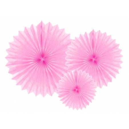 Eventail en tissu rose pâle 20-40cm