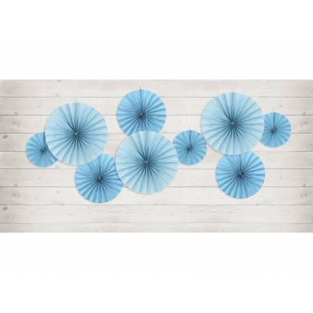 Rosaces décoratives bleu