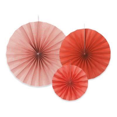 Rosaces décoratives rouge