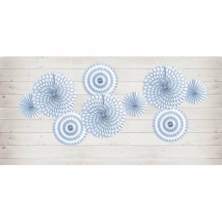 Rosettes décoratives bleuet bleu clair