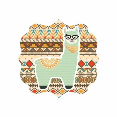 40 Stickers Baroque Lama Vert
