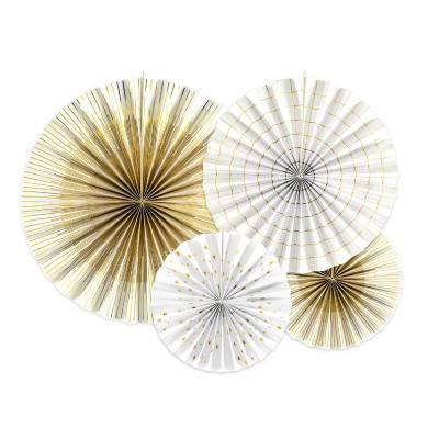 Rosettes décoratives blanches
