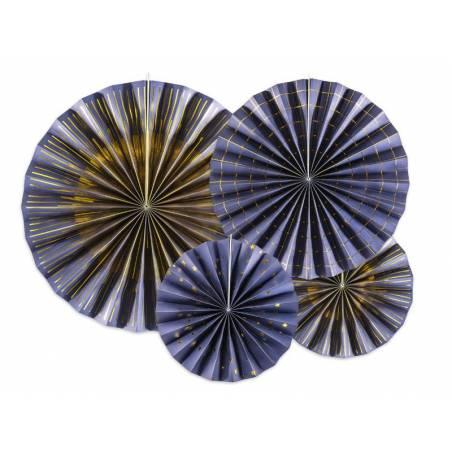 Rosettes décoratives bleu marine