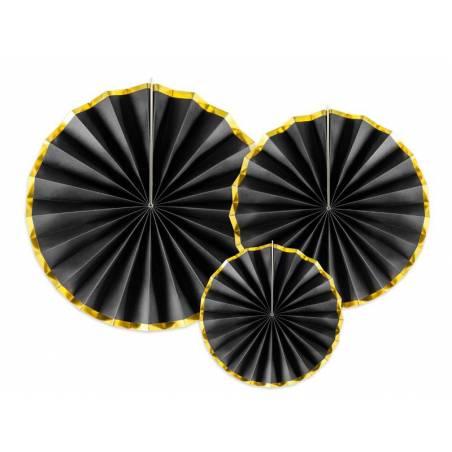 Rosettes décoratives noires