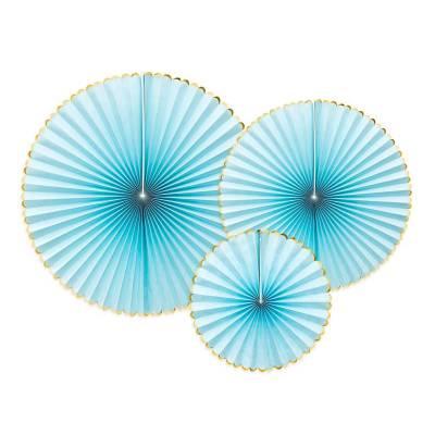 Rosettes décoratives délicieux bleu clair