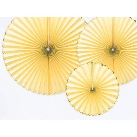 Rosettes décoratives délicieux jaune clair