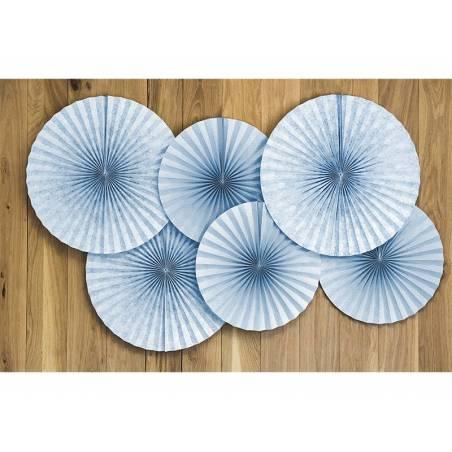 Rosaces décoratives gris-bleu