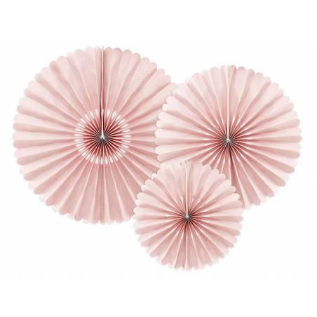 Rosettes décoratives rose poussiéreuse