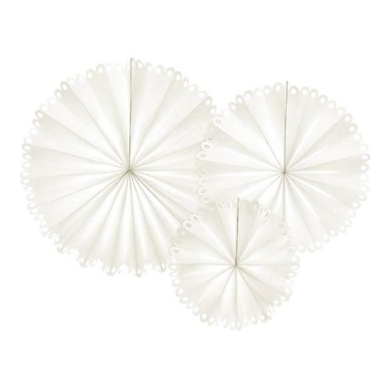 Rosettes décoratives blanc cassé