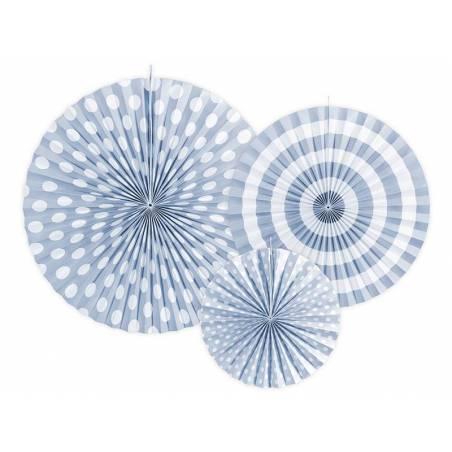 Rosettes décoratives bleu ciel