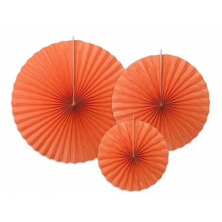 Rosettes décoratives orange foncé
