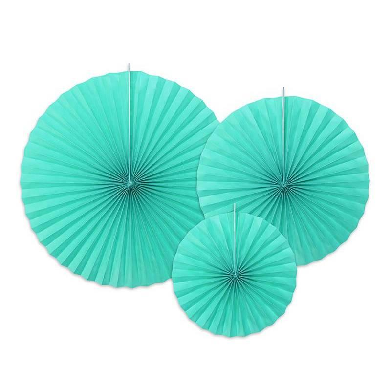 Rosettes décoratives bleu tiffany