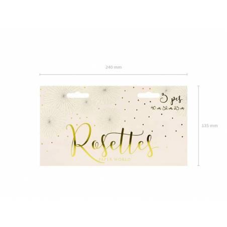 Rosettes décoratives crème
