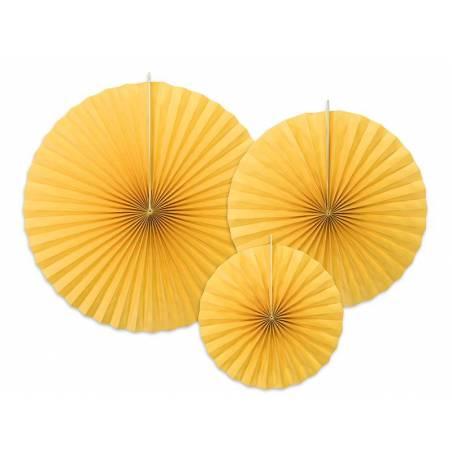 Rosettes décoratives jaunes