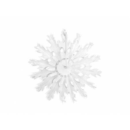 Rosettes décoratives Flocon de neige blanc 37cm