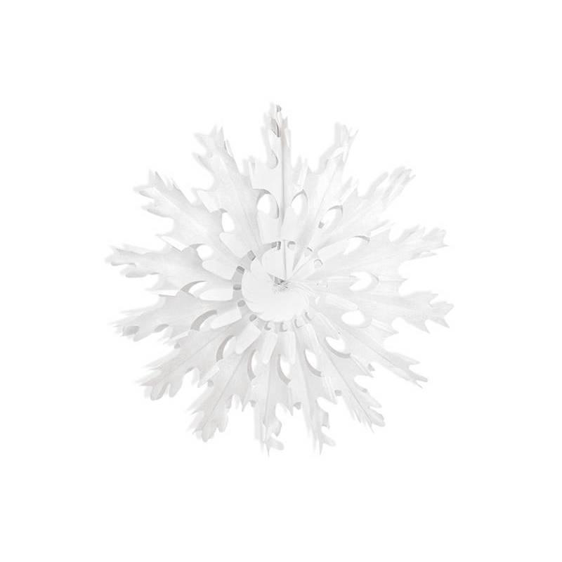 Rosettes décoratives Flocon de neige blanc 45cm