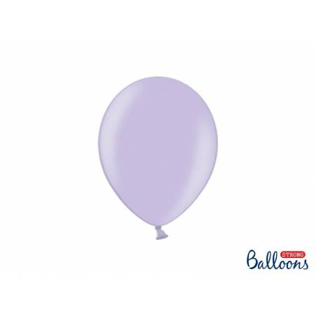 Ballons forts 23cm glycines métalliques