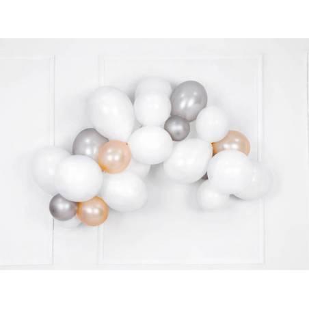 Ballons forts de 23 cm orange vif métallique