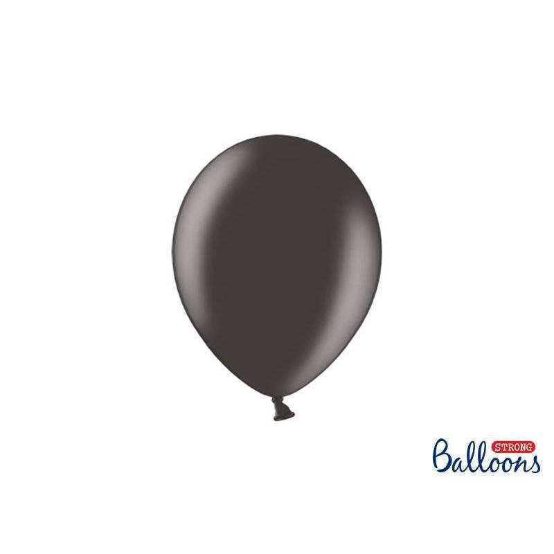 Ballons forts 23cm noir métallique
