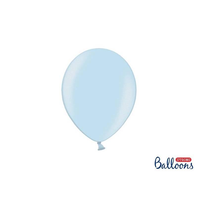 Ballons forts 23cm bleu métallisé métallisé