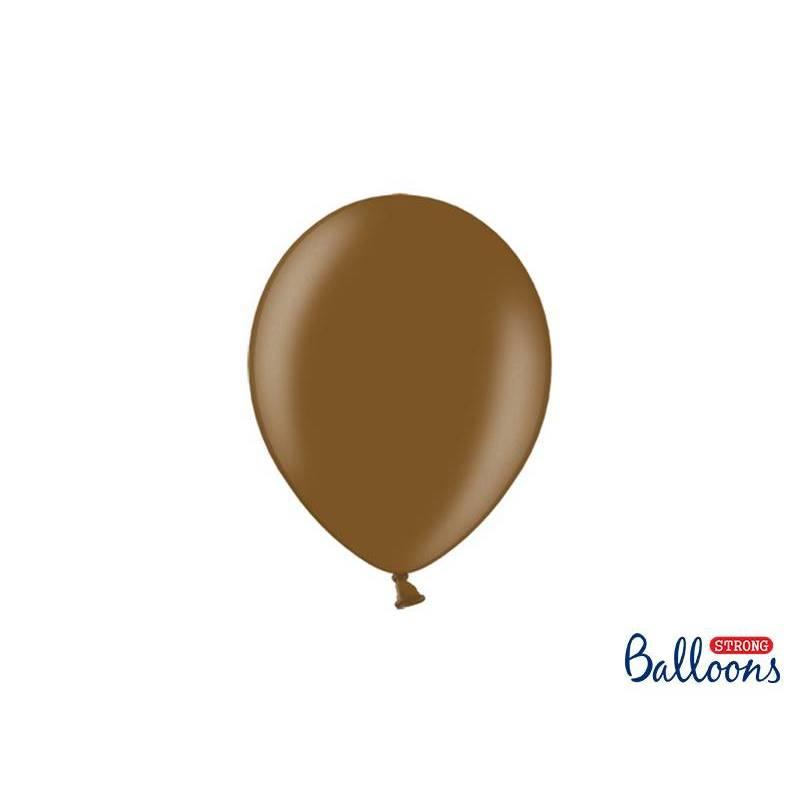 Ballons forts 23cm brun chocolat métallique