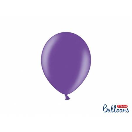 Ballons forts 23cm violet métallique