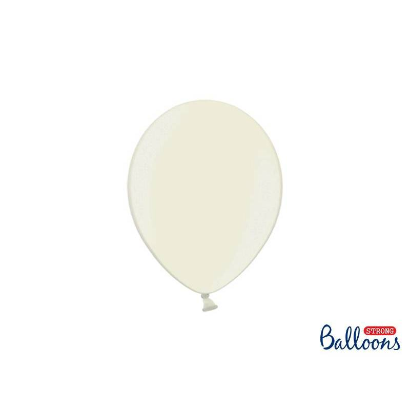 Ballons forts 23cm crème légère métallique