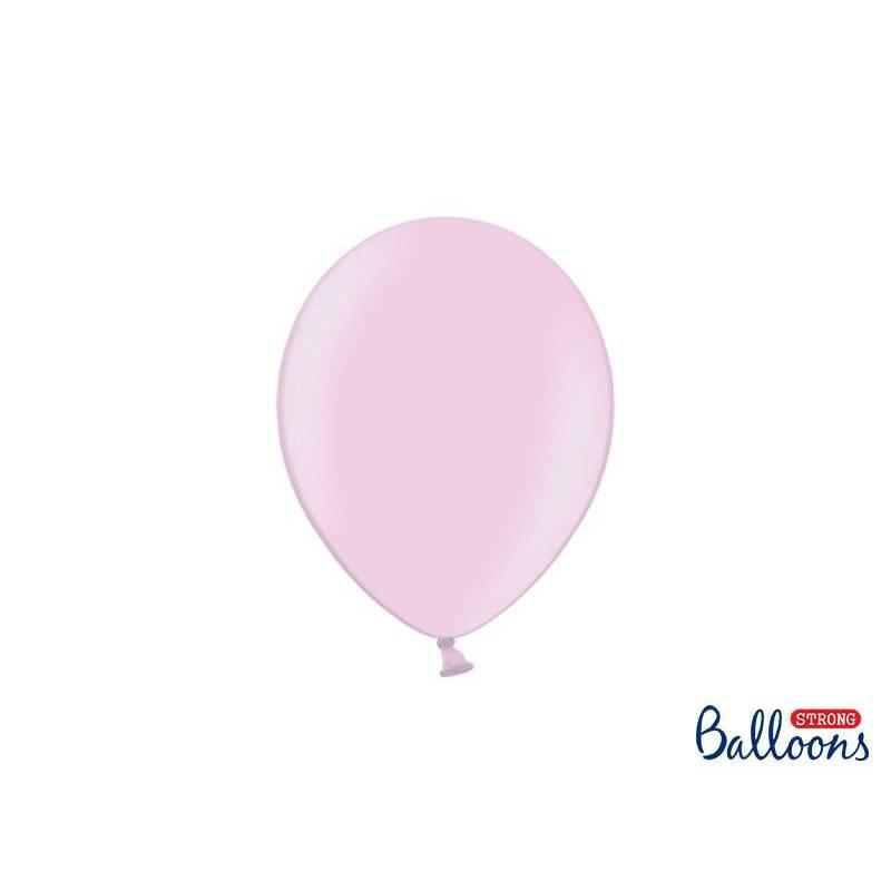 Ballons forts 23cm rose métallisé