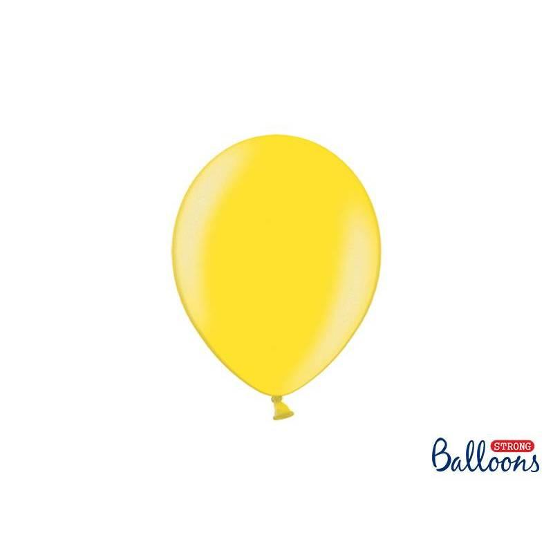 Ballons forts 23cm zeste de citron métallisé