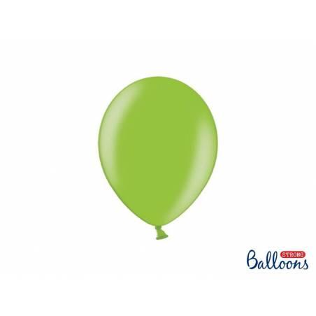 Ballons forts 23cm vert vif métallique