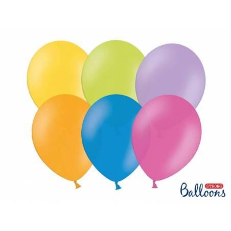 Ballons forts 23cm mélange de pastel