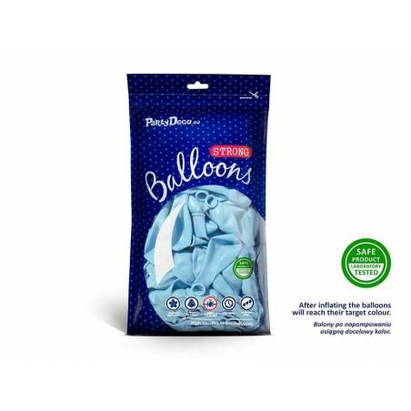 Ballons forts 23cm bleu clair pastel