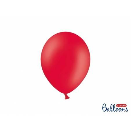 Ballons forts 23cm rouge pavot pastel