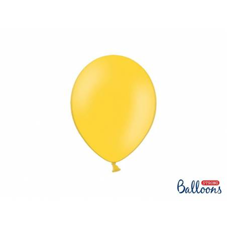 Ballons forts 23cm jaune miel pastel