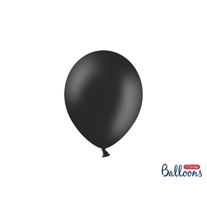 Ballons forts 23cm noir pastel