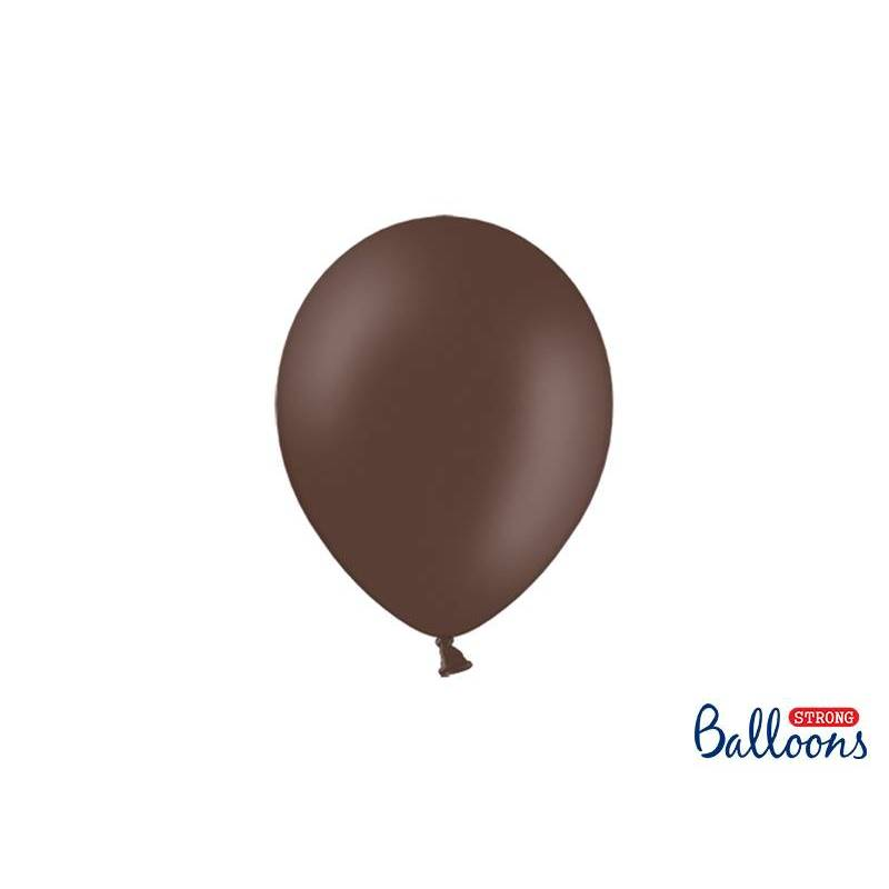 Ballons forts 23cm brun cacao pastel